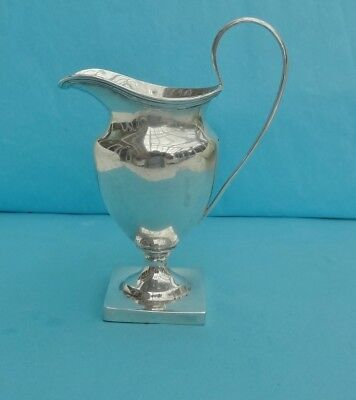CHESTER Antique STERLING SILVER CREAM JUG - c1900 - Nathan and Hayes