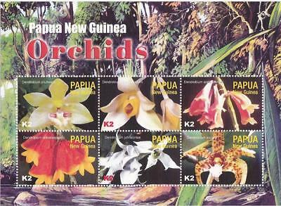 Papua New Guinea 2004 MNH MUH M/S - Orchids.