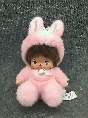 Sekiguchi BEBICHHICHI Monchhichi Baby Bunny With Suit & Pacifier Japan
