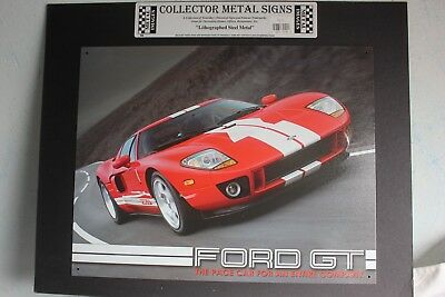 PLAQUE METAL SIGN 40 x 30 - FORD GT