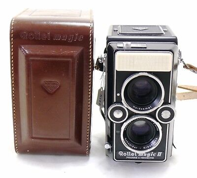 Rollei Magic II 2 TLR camera with case RolleiMagic Rolleiflex MINT-