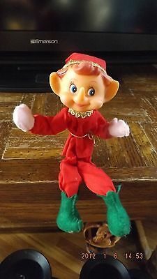 vintage Midcentury ELF KNEE HUGGER Christmas PIXIE ORNAMENT Xmas Decor