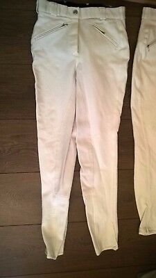Mark Todd White Competition Breeches Full Suede Seat Great Condition Size 28