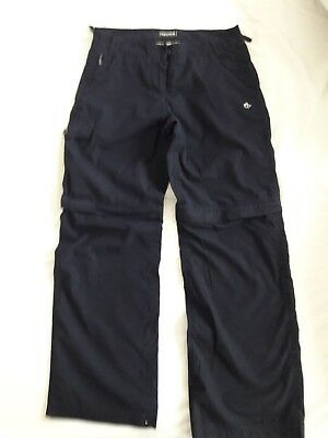 Navy Craghoppers zip-off walking trousers, size 10R