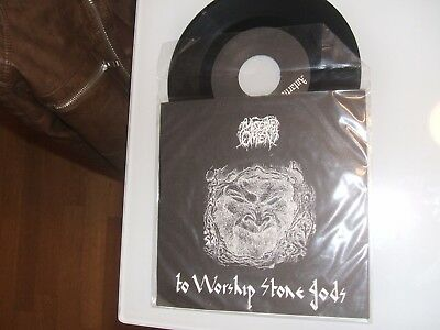 Misery's Omen - To Worship Stone Gods 7'' Hellflame Production