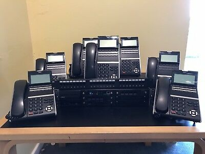 NEC Univerge SV9100 Communication Server with 7 DT400 Digital Desktop Telephones