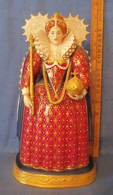 """Rare Royal Worcester Rw2648 Queen Elizabeth I 8 1/4"""" Dated 1959 Crown Cross Miss"""