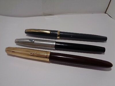 vintage parker 51 and sheaffer fountain pens