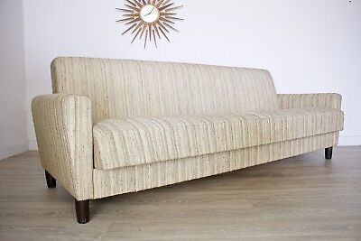 DELIVERY£70  Mid Century Retro Danish 3 Seater Sofa Bed