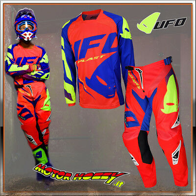 Completo Cross Enduro Made In Italy Ufo Sequence Rosso Fluo 2018 Taglia  52 - Xl