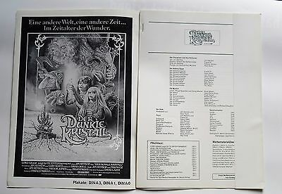 German Showman's Manual -  THE DARK CRYSTAL  (UIP)