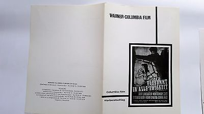 German Showman's Manual - FROM HERE TO ETERNITY (Warner-Columbia RR) #17