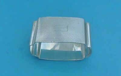 CHESTER 1939 Vintage SOLID SILVER NAPKIN RING - different shape