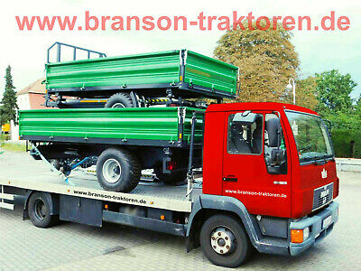Transport Traktor Anhänger Kipper Radlader Schlepper Maschinentransport