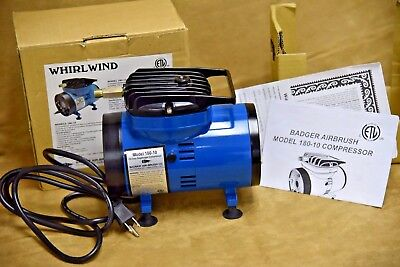 Whirlwind Badger Air-Brush Co. 180-10 Compressor in Box