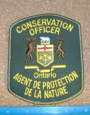 ONTARIO MNR   CONSERVATION OFFICER PATCH,L+F,DNR,enforcement,police,forestry