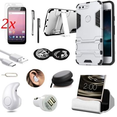 Sliver Kickstand Case Cover Wireless Earphones Accessory Kit For Google Pixel XL