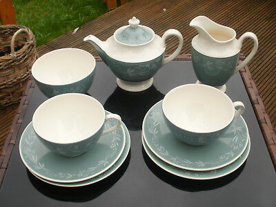 "VINTAGE ROYAL DOULTON - TEA FOR TWO SET -  "" CASCADE "" DESIGN - D6457 - 1950's"