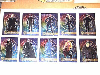 2000 X-Men Movie Double Sided Chromium Insert Chase 10 Card Set Wolverine Storm!
