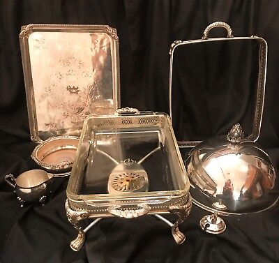 Lot of 7 Vintage Silverplate Mixed Pieces