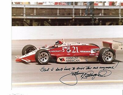 Autographed Johnny Rutherford CART IndyCar Racing Photograph