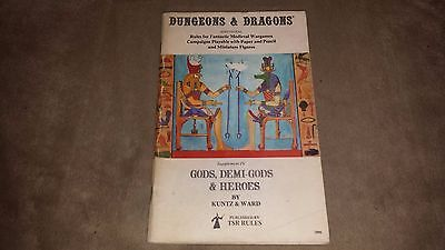 Dungeons & Dragons Gods, Demi-Gods and Heroes - Soft Cover - 7th printing - 1979