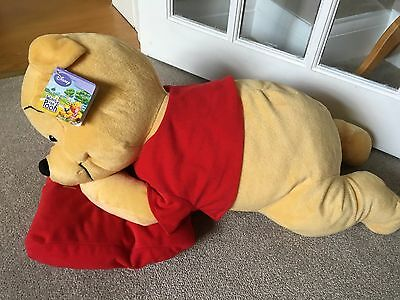 "Large Disney Winnie the Pooh Plush Toy with You're Special Pillow/Cushion 24"" BN"