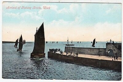 WICK - Fishing Boats - Caithness / Scotland - c1900s era vintage postcard