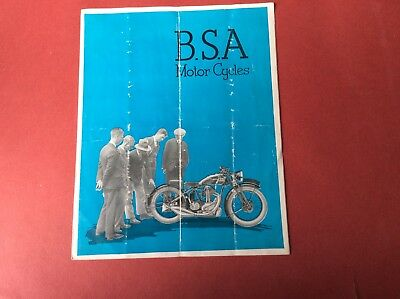 B. S. A. Motor Cycles. Catalogue. 1932.