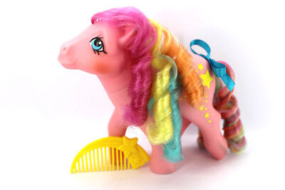 💕 Vintage G1 80's My Little Pony 💕 - Rainbow Curl STRIPES w/Original Comb!