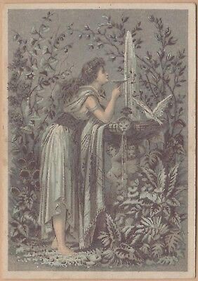 Victorian Trade Card-Dr Jayne's Patent Medicines-Toughkenamon, PA-Fountain-Dove
