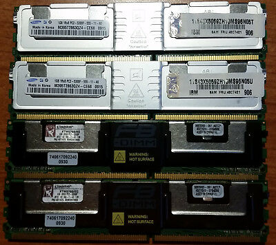 Kit RAM 4Gb (4x1Gb) IBM Server xSeries DIMM PC2-5300F ECC 1Rx8 FRU 46C7421