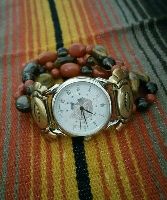 Southwest Traditions Carolyn Pollack Chief Watch Brass Tips Fall Colors