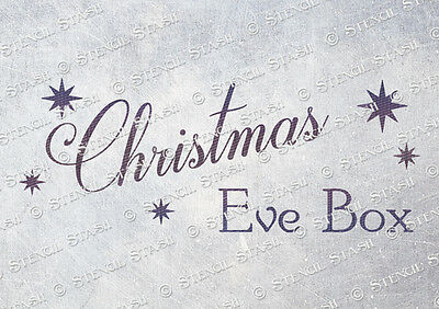Christmas Eve Box STENCIL A5 Make and Sell Gift Crates, SUPERIOR 250 MYLAR
