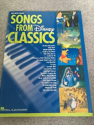 Big Note Piano Songs From Disney Classics