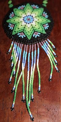 Huichol Beaded Pouch Necklace 1