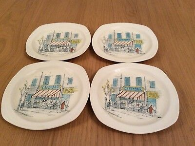 Midwinter  Hugh Casson Cannes Riviera Side Plates, Set Of Four