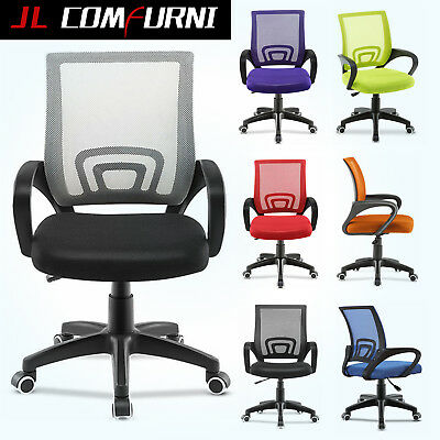 Office Mesh Chair Computer Desk  Fabric Adjustable Ergonomic 360° Swivel Lift