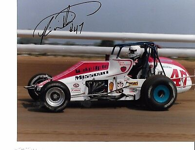 Autographed Kevin Whitesides USAC Dirt Champ Car Racing Photograph