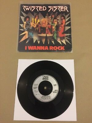 Twisted Sister / I Wanna Rock / 7 Inch Vinyl / Hard Rock / The Ramones / Rare