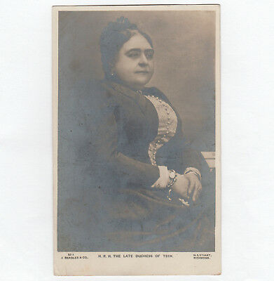 Rare Royalty postcard. The Late Duchess of TECK 1906