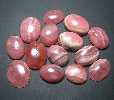 97.85 Ct Natural Rhodochrosite Cabochon Oval 17 Piece 10 X 12 To 12 X 16 Mm B367