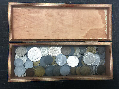 Treasure Box - Antique WWI and WW2 Nazi Germany War Coins - Over 100 Coins