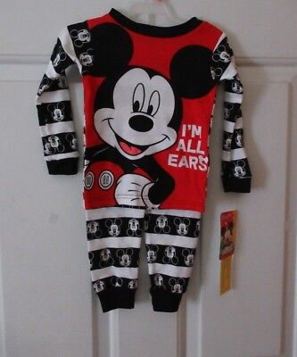 Disney Mickey Mouse Two Piece P.J's ~ Size 2 Toddler ~ NWT