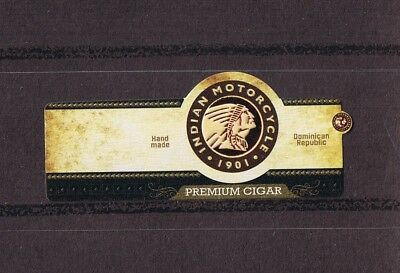 """Dominican Cigar Bands, Vit. Centro America.- """"indian Motorcycle - 1901"""" (Indio)"""