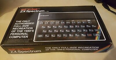 The Recreated Sinclair ZX Spectrum retro gaming keyboard very 48k look new