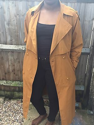 Brown Vintage Trench Coat Rain Coat MAC - UK Size 10/12