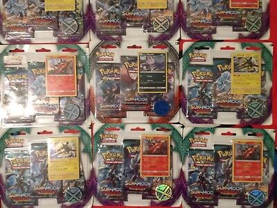Pokemon Cards Sun And Moon 3 deck booster pack