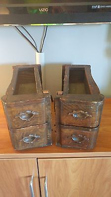 Antique Treadle Sewing Machine Drawers Set of Four Decorative -White Sewing
