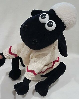 Wallace & Gromit Shaun the Sheep soft toy with zip pyjama case large 15 inch